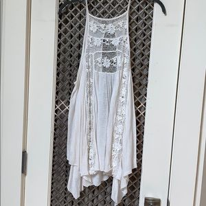 Free people white top coverup